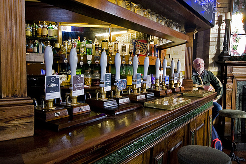 A Fine array of real ales