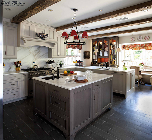 Jack Rosen Custom Kitchens - Traditional kitchen with white accents